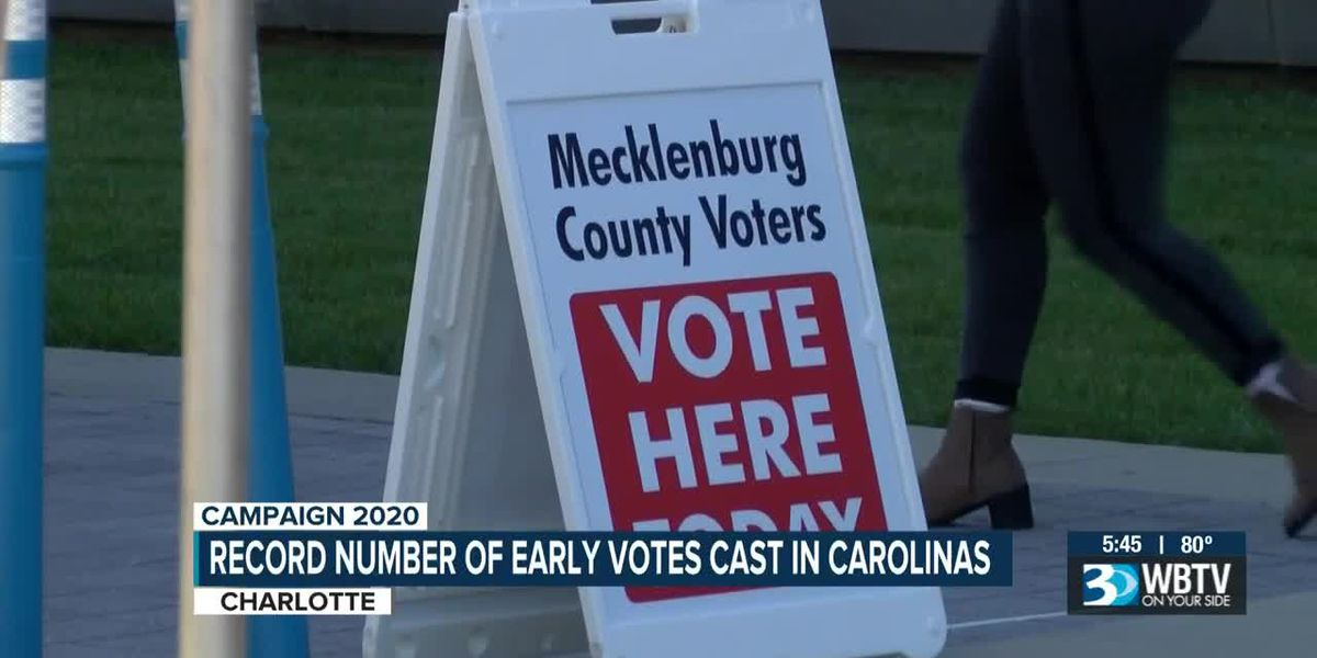 Record number of early votes cast in the Carolinas