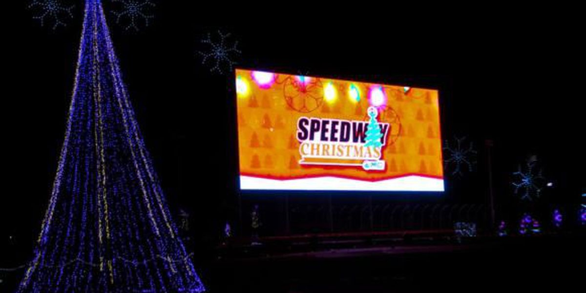 christmas lights soon to shine at charlotte motor speedway