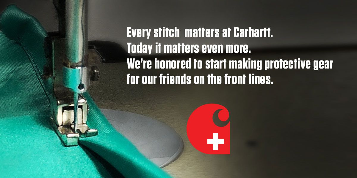 Carhartt to make gowns, 2.5M masks for frontline workers