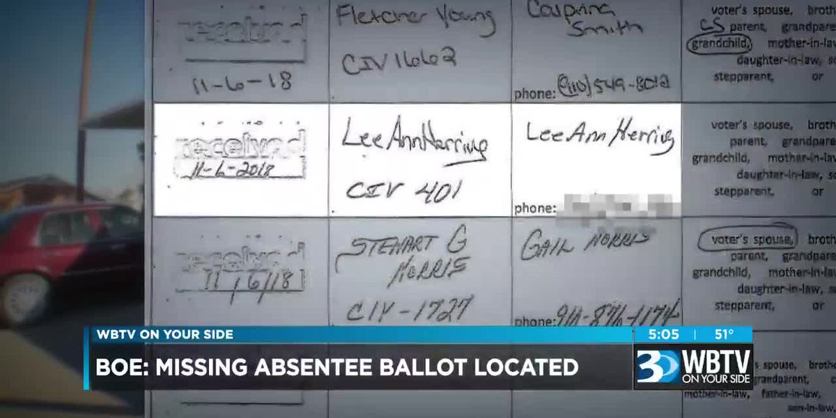 BOE: Missing absentee ballot located