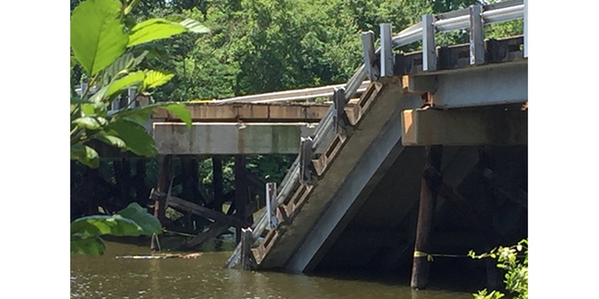 Concrete barriers in place after bikers jump collapsed Caldwell County bridge