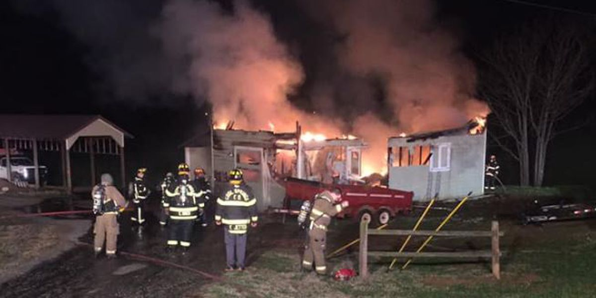 Crews work for hours to control garage fire in Iredell County