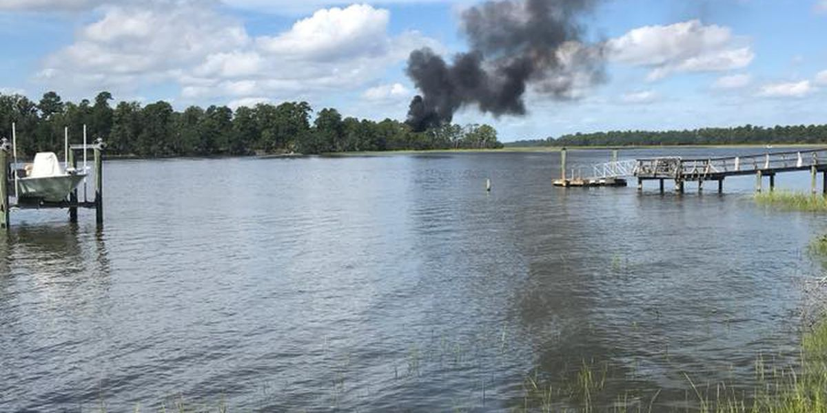 Military plane crashes in Beaufort County SC pilot ejects safely