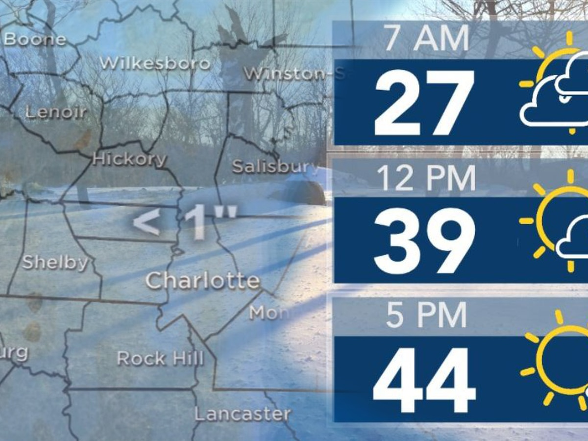 Temperatures cool below freezing overnight leaving potential for icy roads