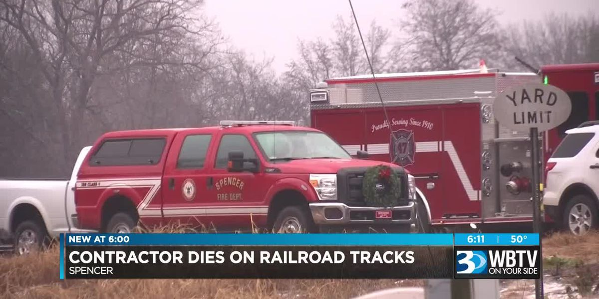 Contractor dies after being pinned under plates on railroad tracks