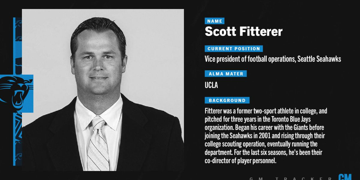 Panthers expected to hire Seahawks VP of football operations Scott Fitterer as new general manager