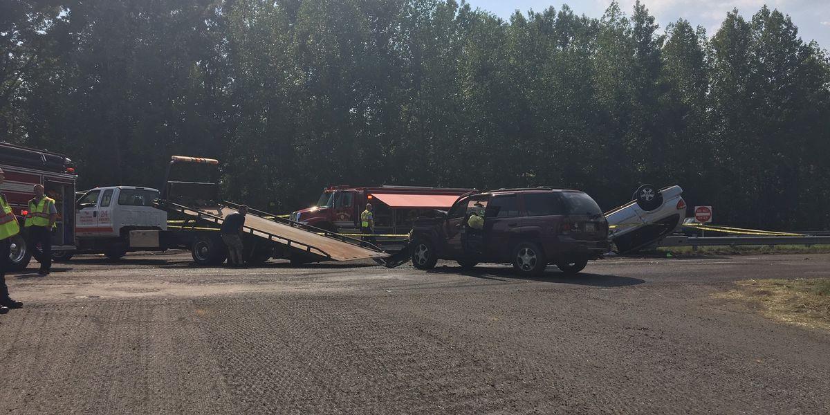 Multiple people taken to hospital after car crash off Highway 521 in Lancaster