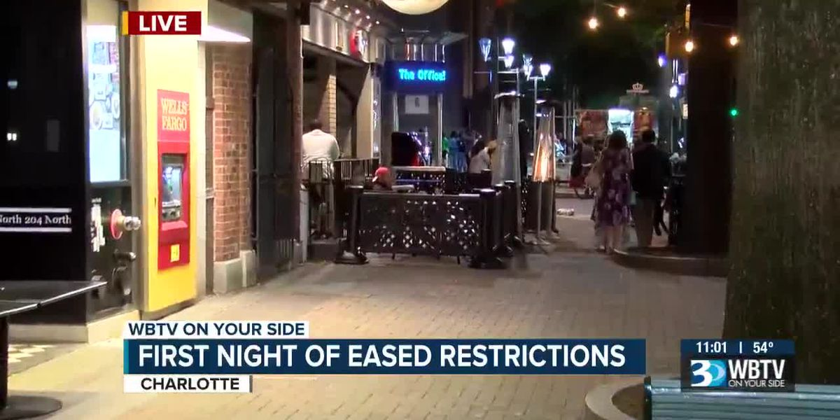 First night of eased restrictions in North Carolina