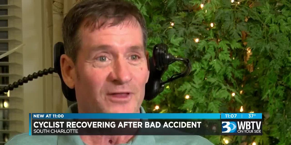 Cyclist recovering after bad accident