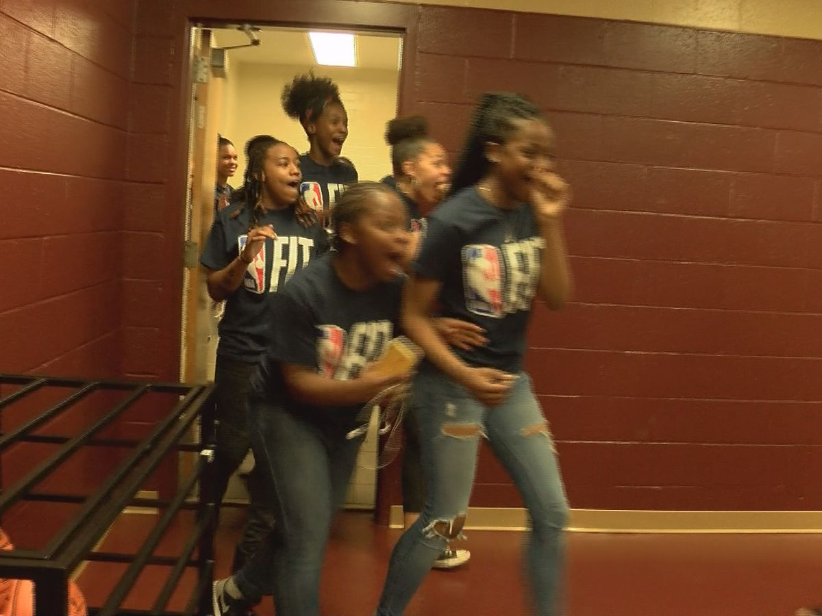 NBA surprises West Charlotte High School athletes to kick-off All-Star weekend
