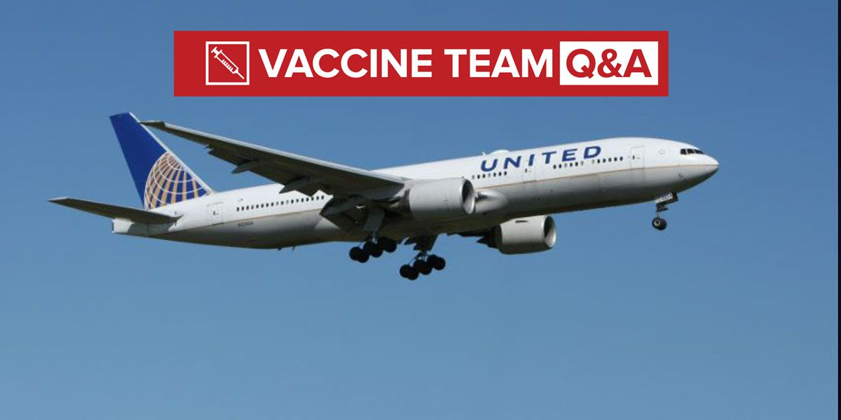 VACCINE TEAM: Do fully vaccinated people need to quarantine after traveling by plane?