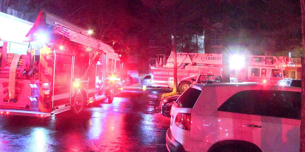 Residents evacuated after fire breaks out at apartments in Charlotte