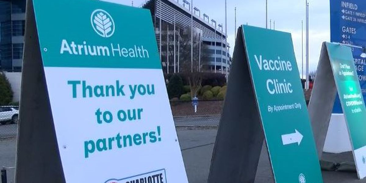 First of several mass vaccination clinics opens at Charlotte Motor Speedway