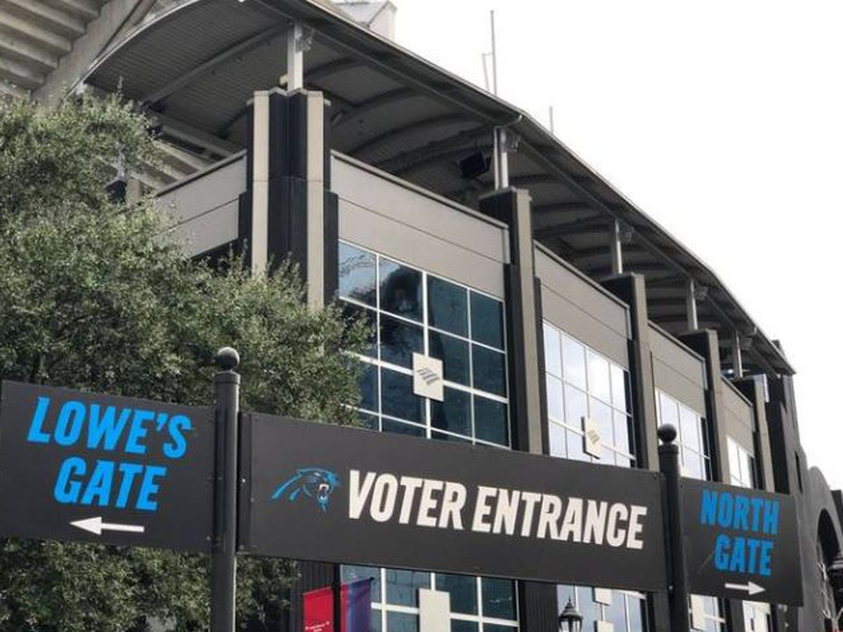 When the Panthers play the Bears, there will be people voting at the stadium