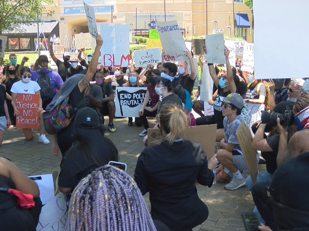 20-year-old organizes peaceful protest in Charlotte's SouthPark Monday afternoon