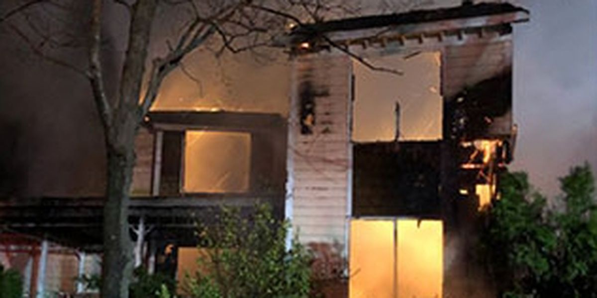 20 fire departments fight massive house fire in Stanly County