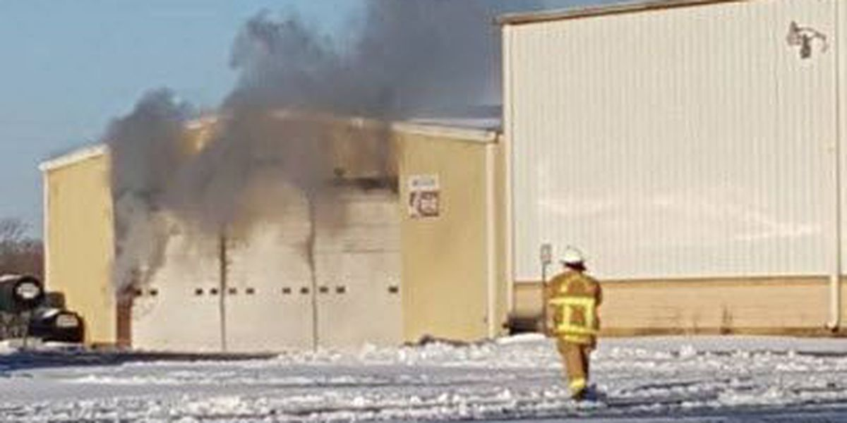 Fire reported inside maintenance hangar at Statesville airport