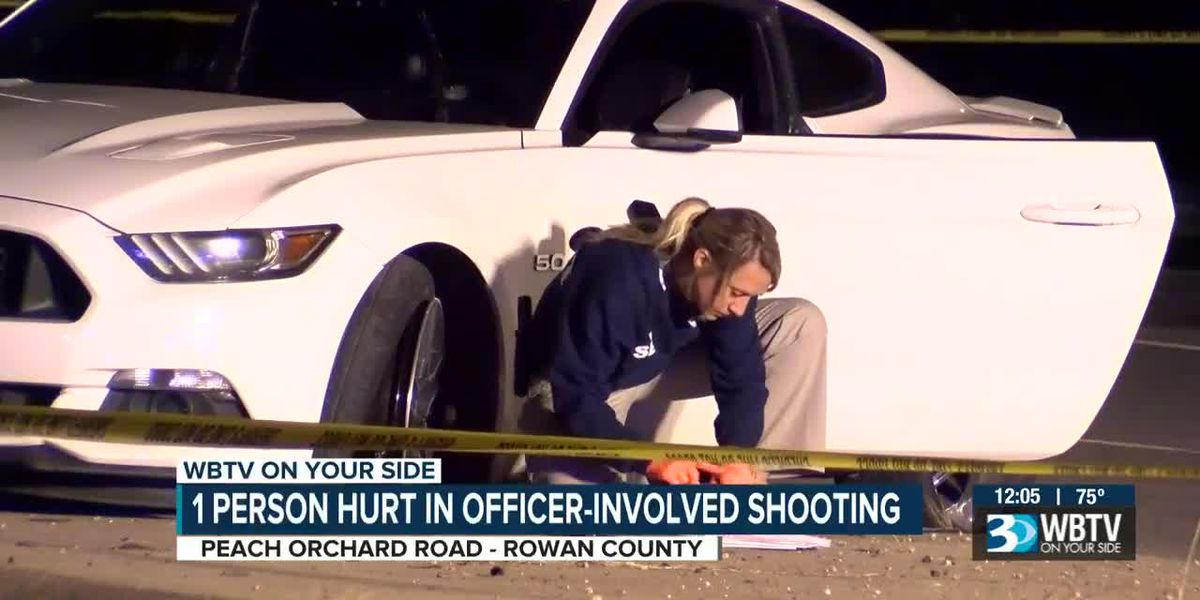 One person hurt in officer-involved shooting in Rowan County