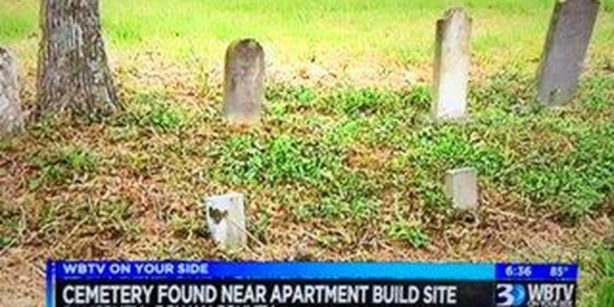 Building plans to change after cemetery found at apartment construction site