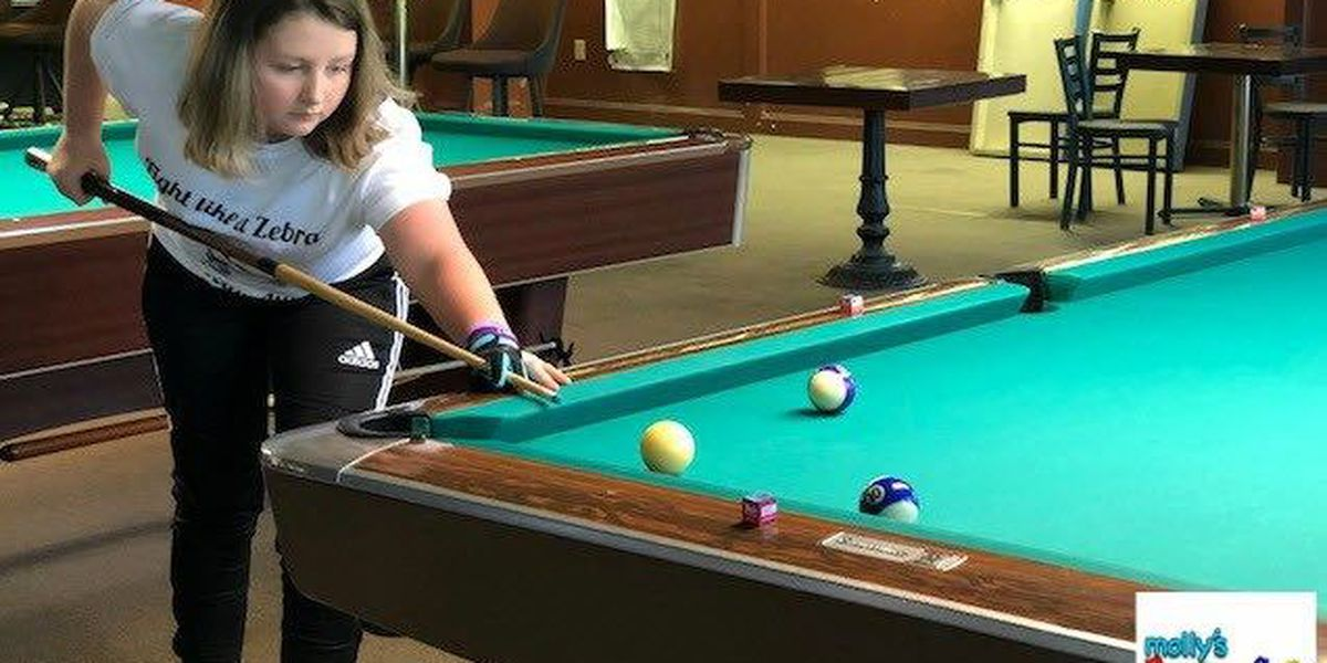 Molly's Kids: Allie McDaniels meets her hero - a professional pool player