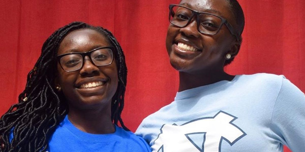 Charlotte twin sisters awarded $1 million+ in scholarships, attending rival universities
