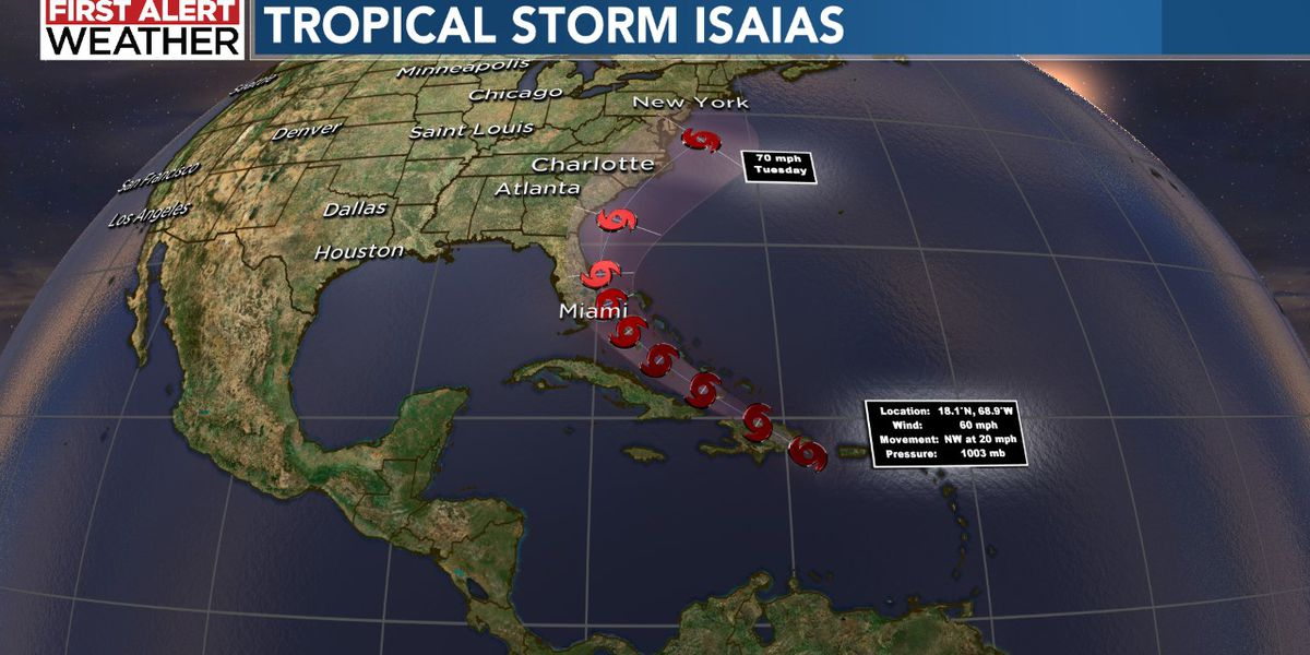 Isaias unleashes heavy rain, gusty winds and flash flooding over Puerto Rico, Dominican Republic