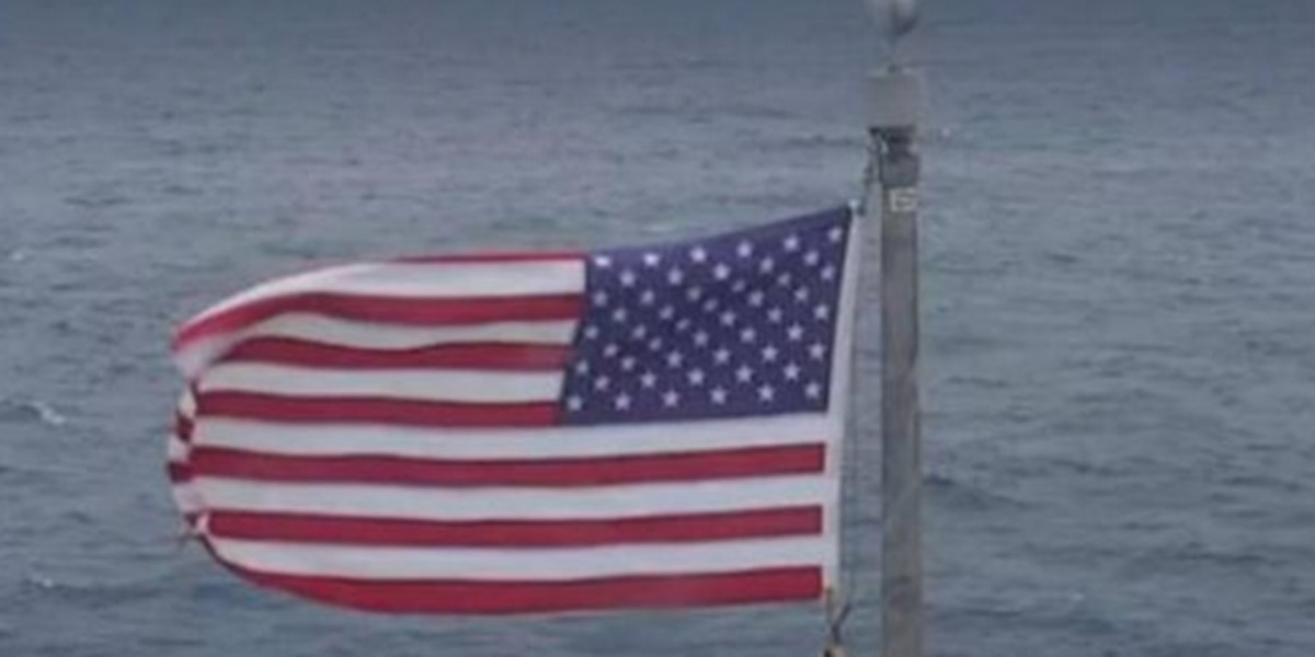 He flew the US flag off the NC coast during a hurricane