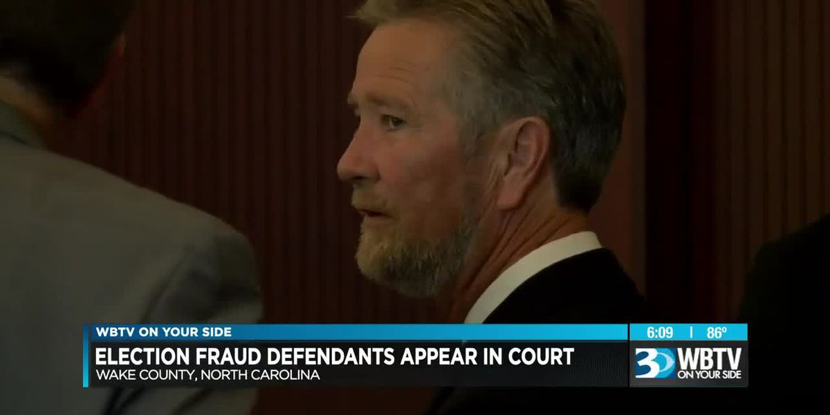 Election fraud defendants appear in court