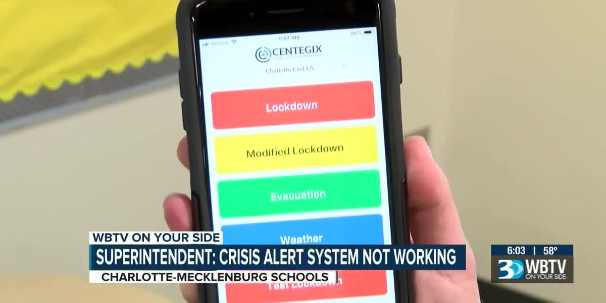 CMS Superintendent says $1M CrisisAlert system is not working