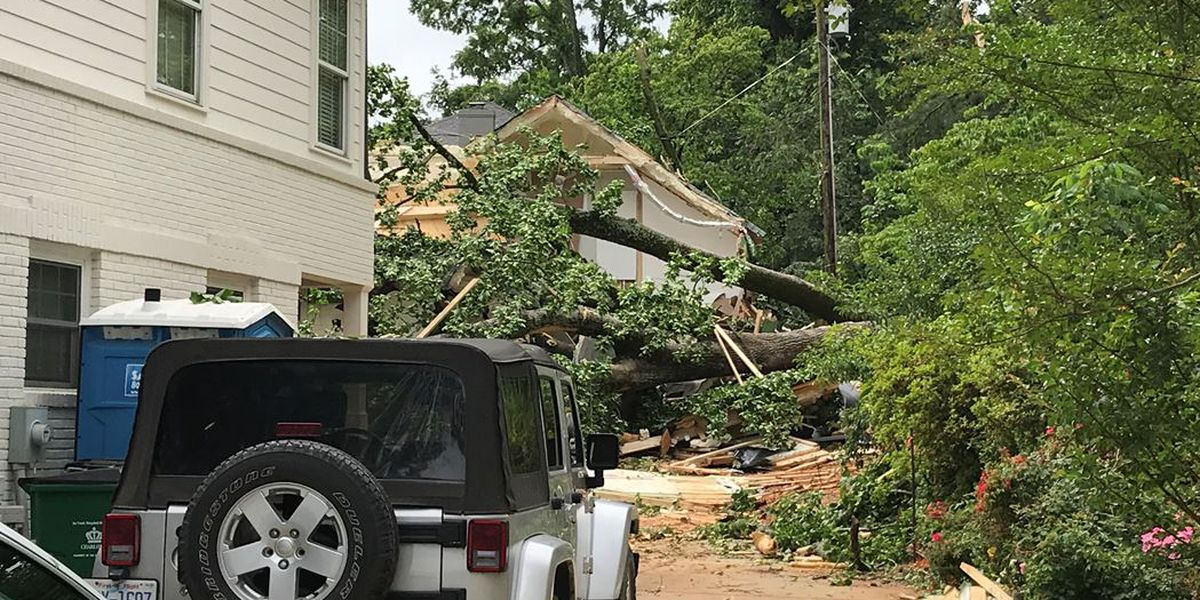 Person dies, another seriously injured after tree crashes through south Charlotte home