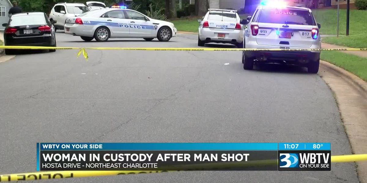Man shot in leg in north Charlotte, woman in custody