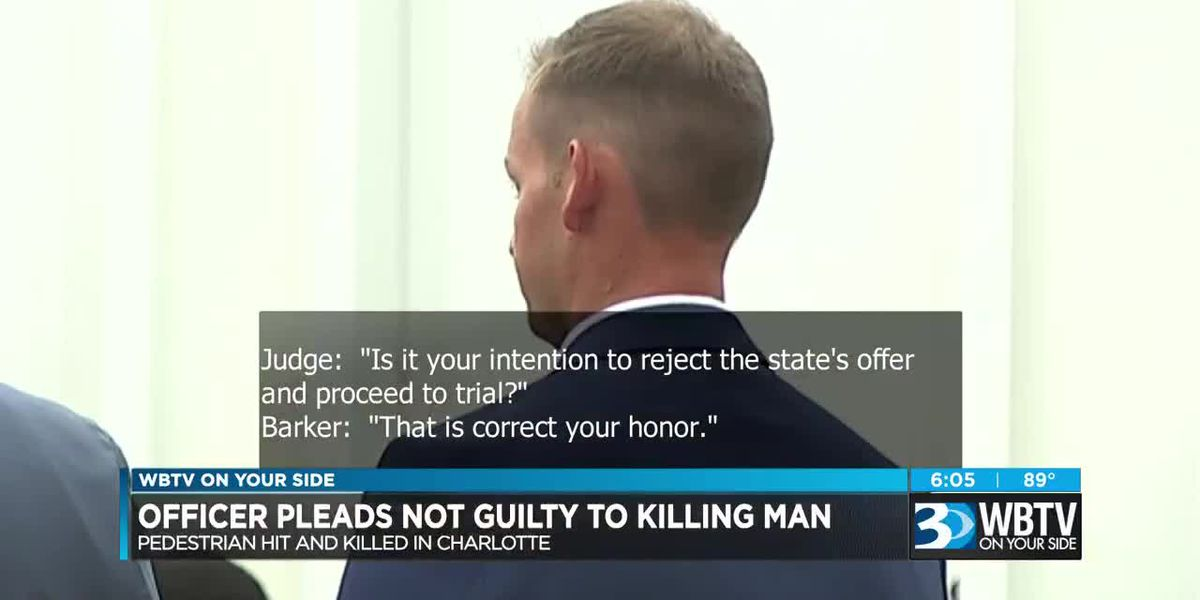 Officer pleads not guilty to killing man