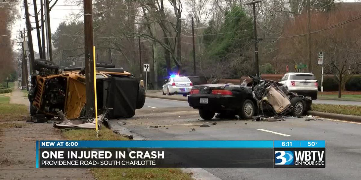 Person seriously injured in multi-car, rollover crash in Charlotte