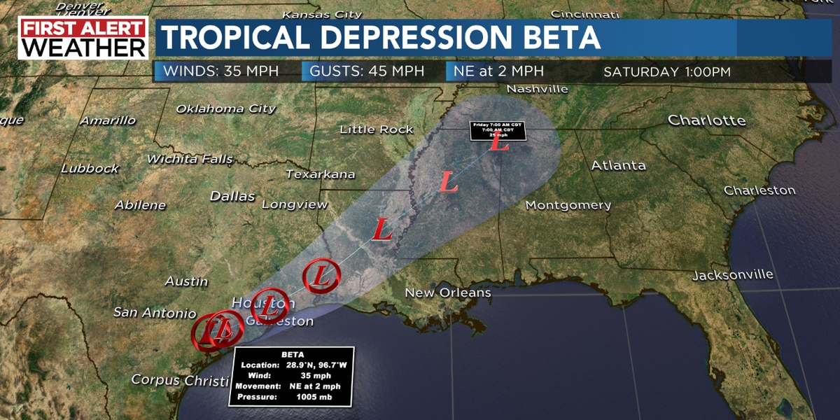 Beta brings more rain to the Carolinas