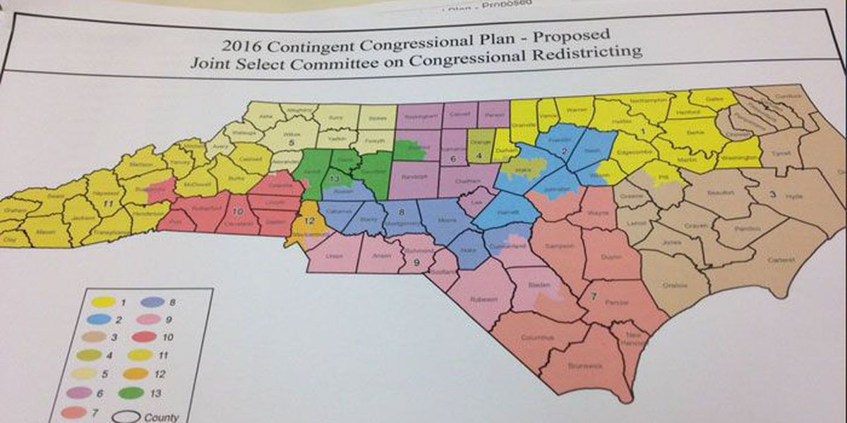 NC Republicans release new Congressional district maps