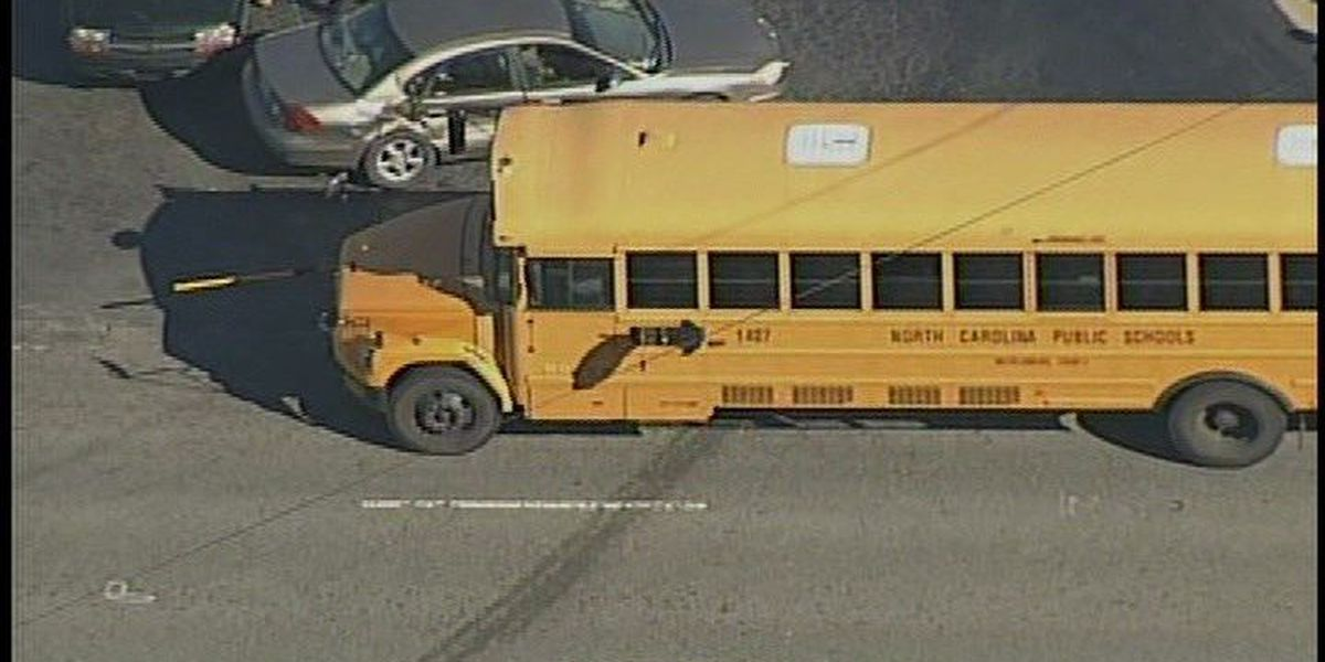 Two injured in school bus involved in crash in Charlotte