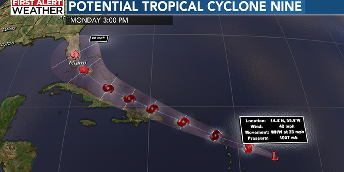 Hurricane Hunters to investigate strengthening Tropical Cyclone Nine