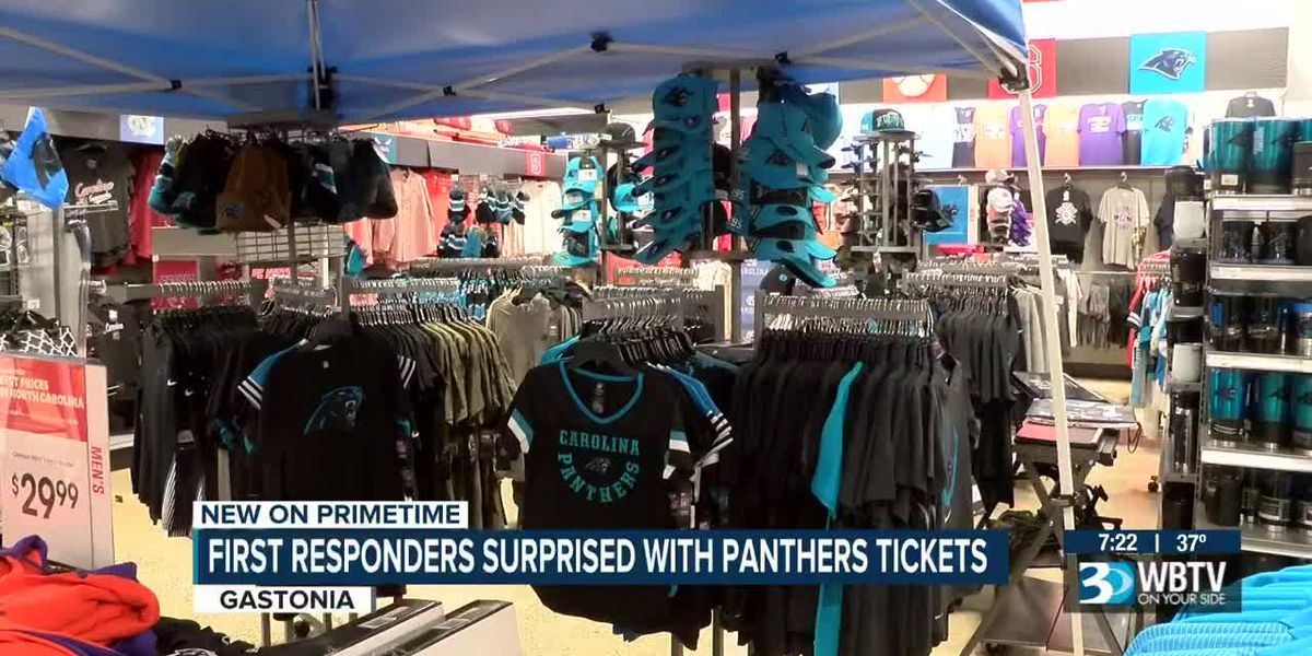 First responders surprised with Panthers tickets, shopping spree in Gastonia
