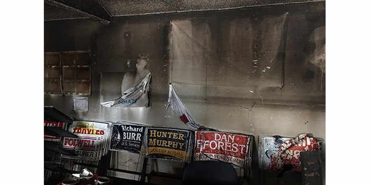 McCrory calls firebombing of GOP site 'anarchy,' GOP head's email compromised
