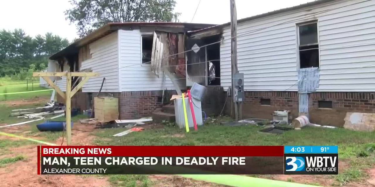 Man, teen charged in deadly fire