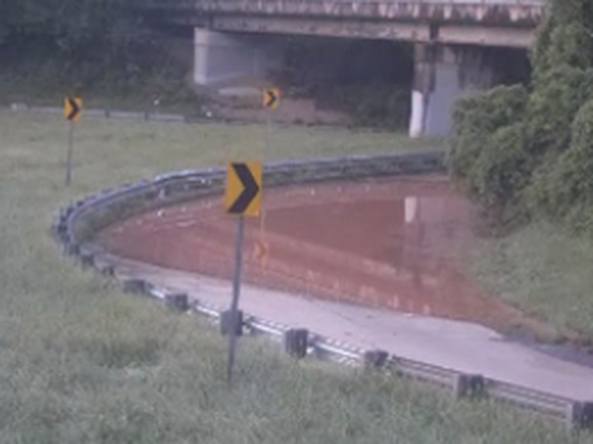 Flooding from overnight storms closes Brookshire Freeway ramp