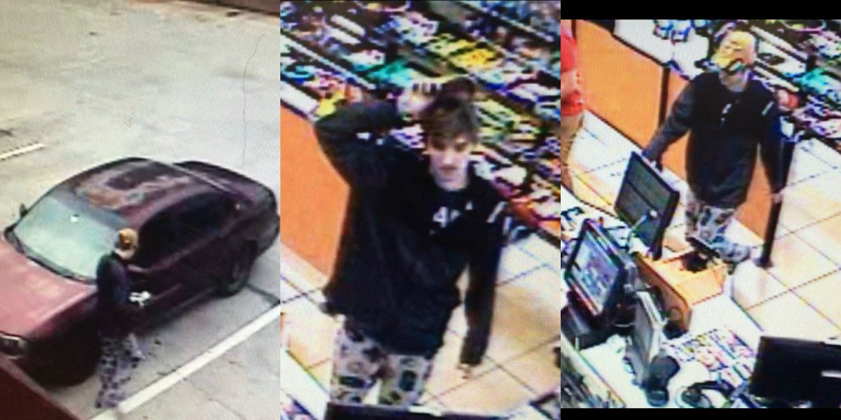 Surveillance images released in Enochville convenience store robbery