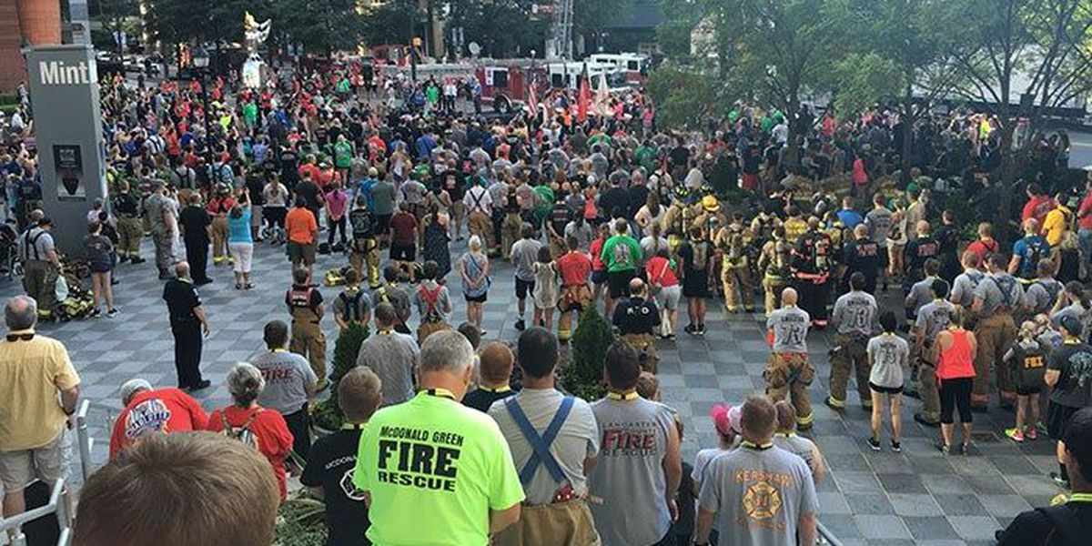 Family of fallen Pineville firefighter join hundreds at 9/11 stair climb