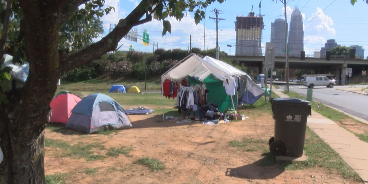 CMPD clarifies the department has no plans to move out the homeless community in 'Tent City'