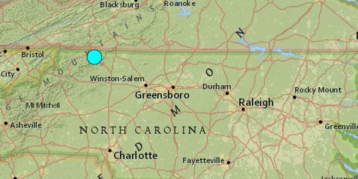 5.1 magnitude earthquake reported in North Carolina, one of largest ever in state