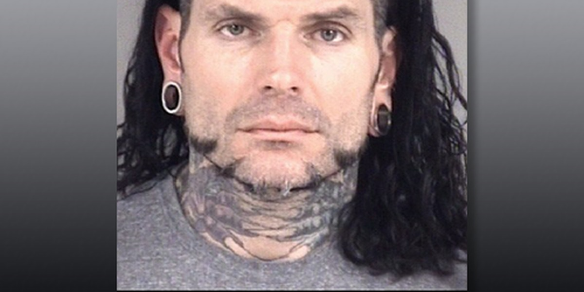 WWE star Jeff Hardy arrested for driving while impaired in Cabarrus County