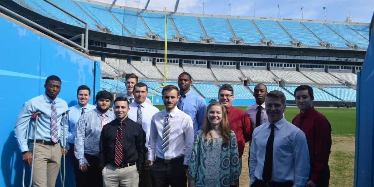 Carolina Panthers and Charlotte Knights welcome Catawba's Sport Management students
