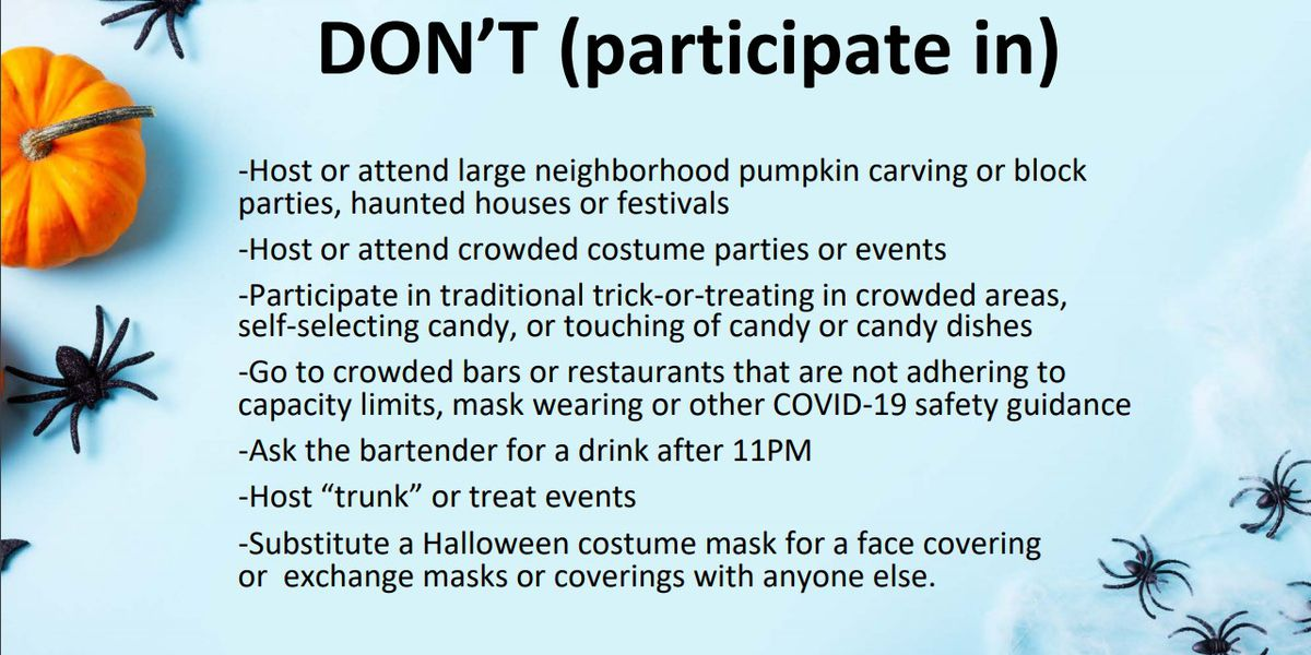 """Mecklenburg County releases """"Do's and Don'ts"""" for Halloween"""