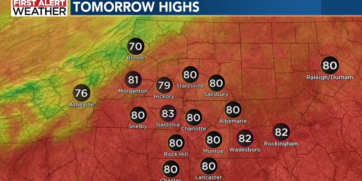 Warm start to the week; First Alert for Tuesday