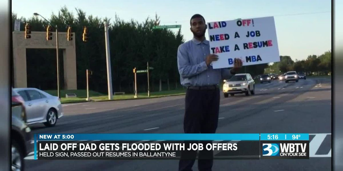 Charlotte father who was laid off gets flooded with job offers